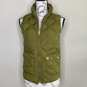 J. Crew excursion quilted down puffer vest